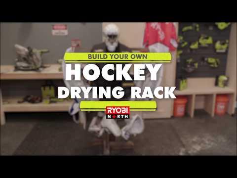 DIY Hockey Drying Rack