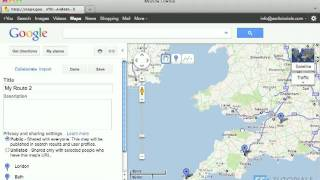 Route planner with Google Maps