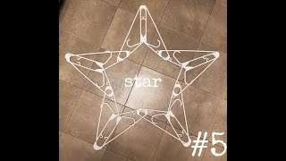 #5 star decorations make with hangers ( snowflake ) idea