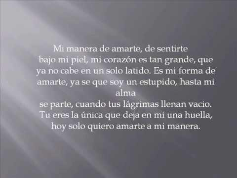 Mi manera de amarte-David Bustamante