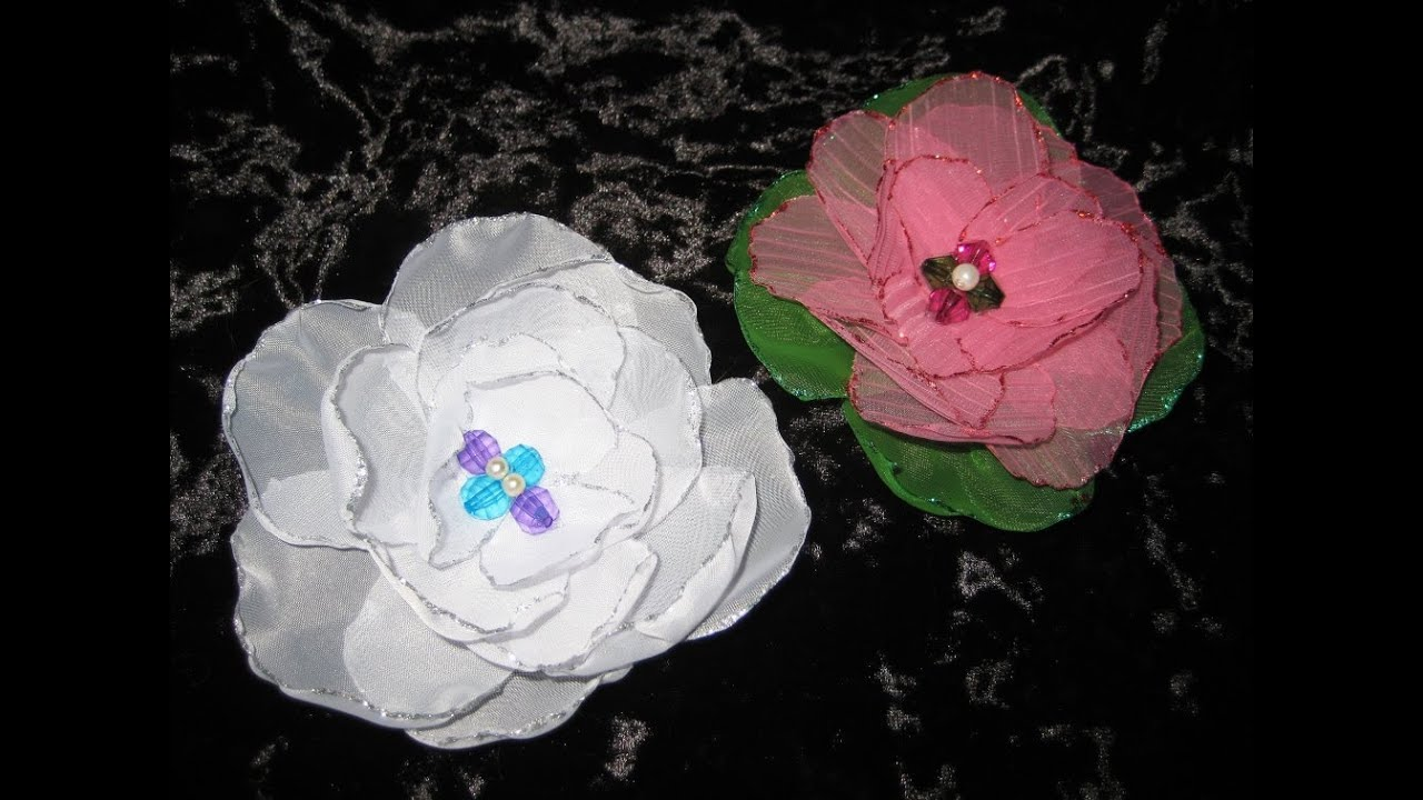 Шторы мастер класс цветы для новичков #8