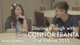 Vidcon 2015: Connor Franta Makes Arielle Jump for Joy!
