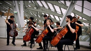Game of Thrones theme played by cello at the Fondation Louis Vuitton