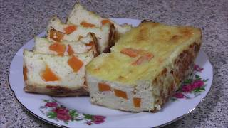 Рецепт творожной запеканки с добавлением тыквы и без сахара