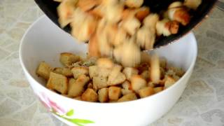 Сырный суп с сухариками | Суп с плавленным сыром