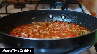 Jamaican SaltFish & Baked Beans in Tomato Sauce |Mommy Version |Lesson #155 | Morris Time Cooking