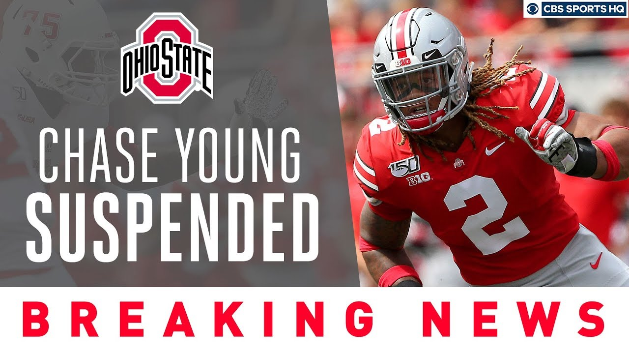Ohio State Star Chase Young Suspended For Possible Ncaa Violation Cbs Sports Hq Youtube