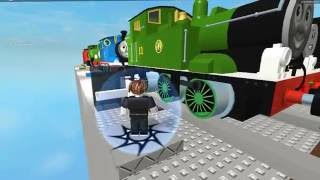 Roblox Thomas and friends Driving Trains down a Cliff: Bill or Ben!