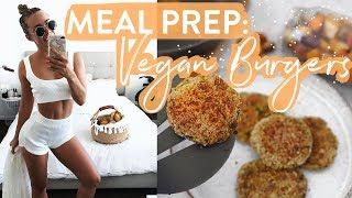MY HEALTHY & FIT LIFE! Meal Prep for School & Work: Vegan, GF, DF Chickpea Burgers!