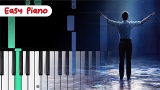 HOW TO PLIAY tightrope - the greatest SHOWMAN - PIANO TUTORIAL WOW EASY FOR BEGINNER