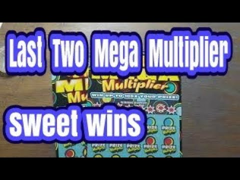 Last 2 MEGA MULTIPLIER Day.  Sweetest win. Pa lottery scratch tickets.