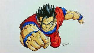 Drawing Ultimate/Mystic GOHAN