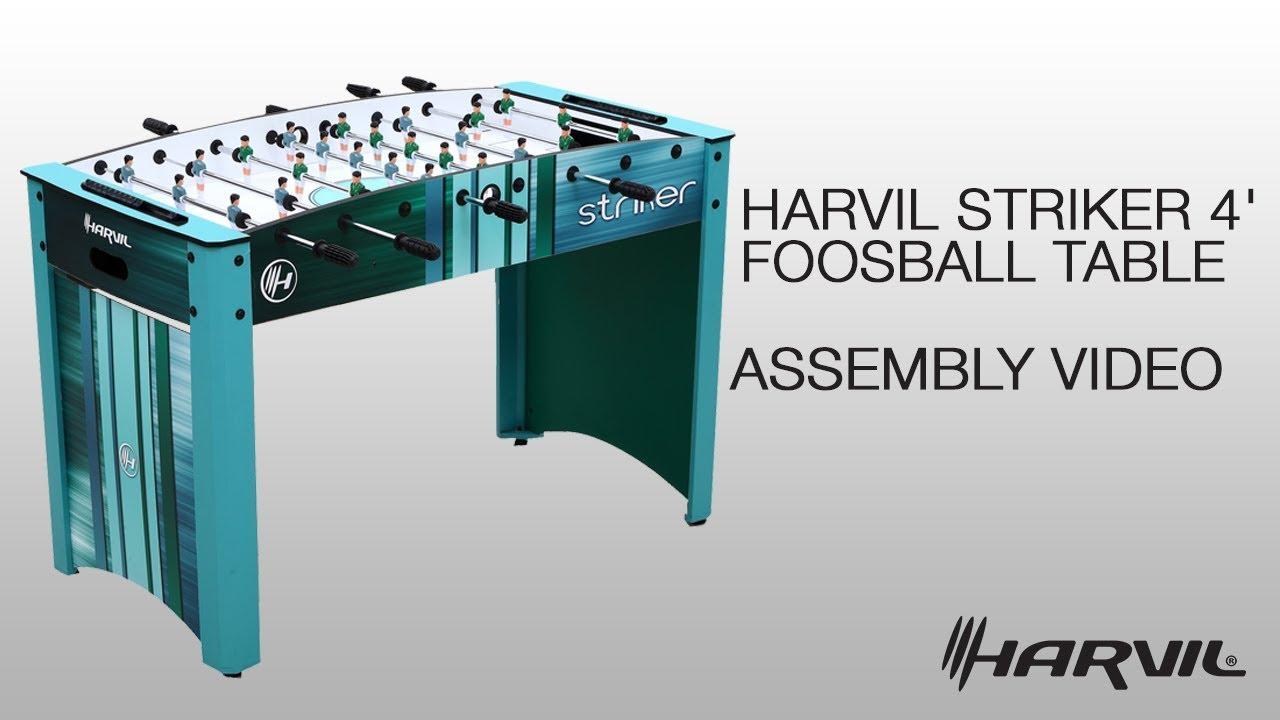 Harvil Striker 4 Foot Foosball Table Assembly Instructions