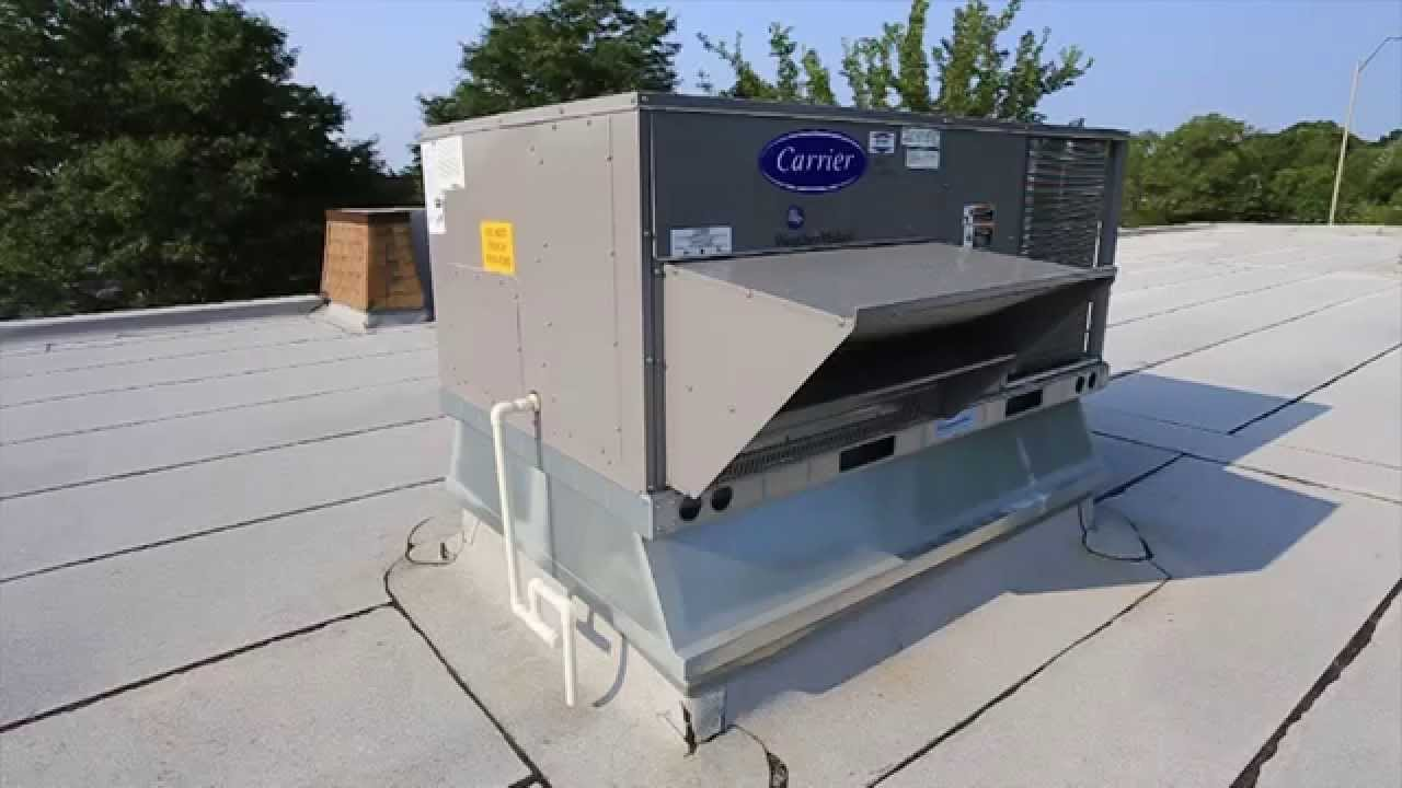 Carrier Package Rooftop Unit Installation   Bartkus Home Systems   YouTube