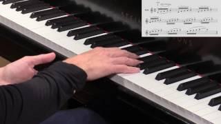 """Hanon-Faber, Gesture 1: Fingers 1-5 """"Swoop"""""""