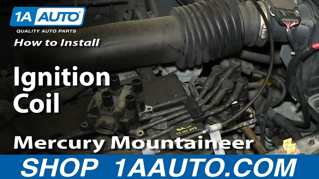 how to install replace ignition coil 2001 04 2 0l ford escape mercury mountaineer [ 1280 x 720 Pixel ]