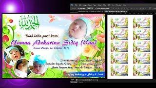 Cara Membuat Kartu Ucapan Selapanan Bayi + Template Kartu Ucapan Selapanan