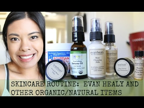 Skincare Routine (REQUESTED): Evan Healy Rose Face Care Kit +Organic items