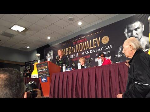 ((Fireworks)) Andre Ward vs Sergey Kovalev FULL Post Ward