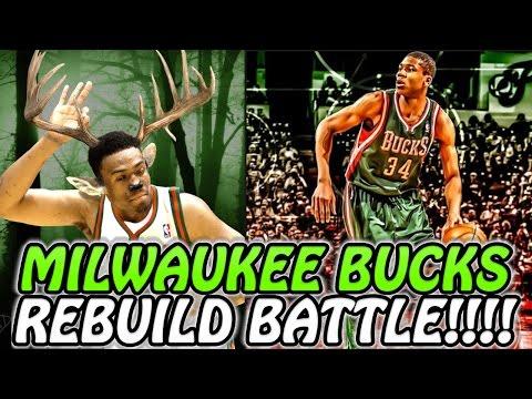 MILWAUKEE BUCKS REBUILD BATTLE!!! NBA 2K17 MY LEAGUE! VS SIXRINGSOFSTEEL