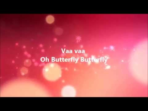 Oh butterfly -MEERA Tamil Karaoke song with Lyrics