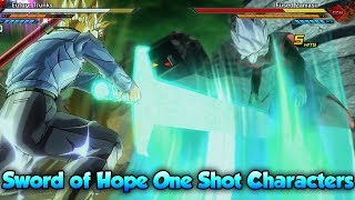 Trunks Sword of Hope One Shot Entire Xenoverse 2 Character Roster?! - Dragon Ball Xenoverse 2
