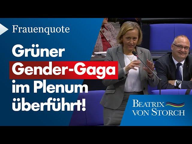 Beatrix von Storch (AfD) - Grüner Gender-Gaga im Plenum überführt, 09.10.2020