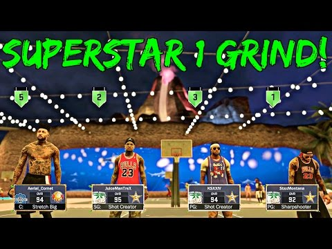 NBA 2K17 MyPark - GREEN LIGHTS DROPPIN FROM DEEP | GRINDIN FOR SUPERSTAR 1 w JuiceMan And King Shawn