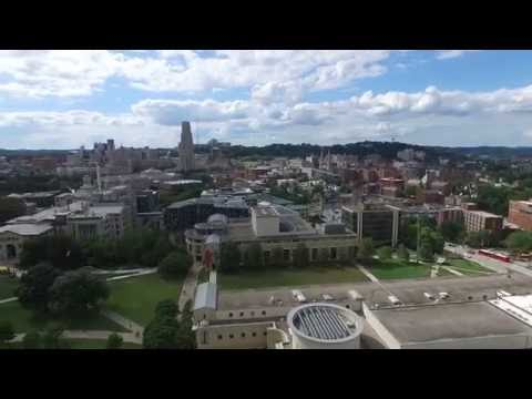 4K HD Drone footage featuring Carnegie Mellon University