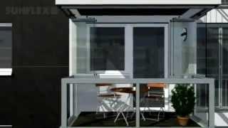 Остекление балконов и фасадов(Поворотно-сдвижные системы SUNFLEX благодаря контрасту стекла и стены увеличивают привлекательность каждого..., 2012-08-13T12:41:47.000Z)
