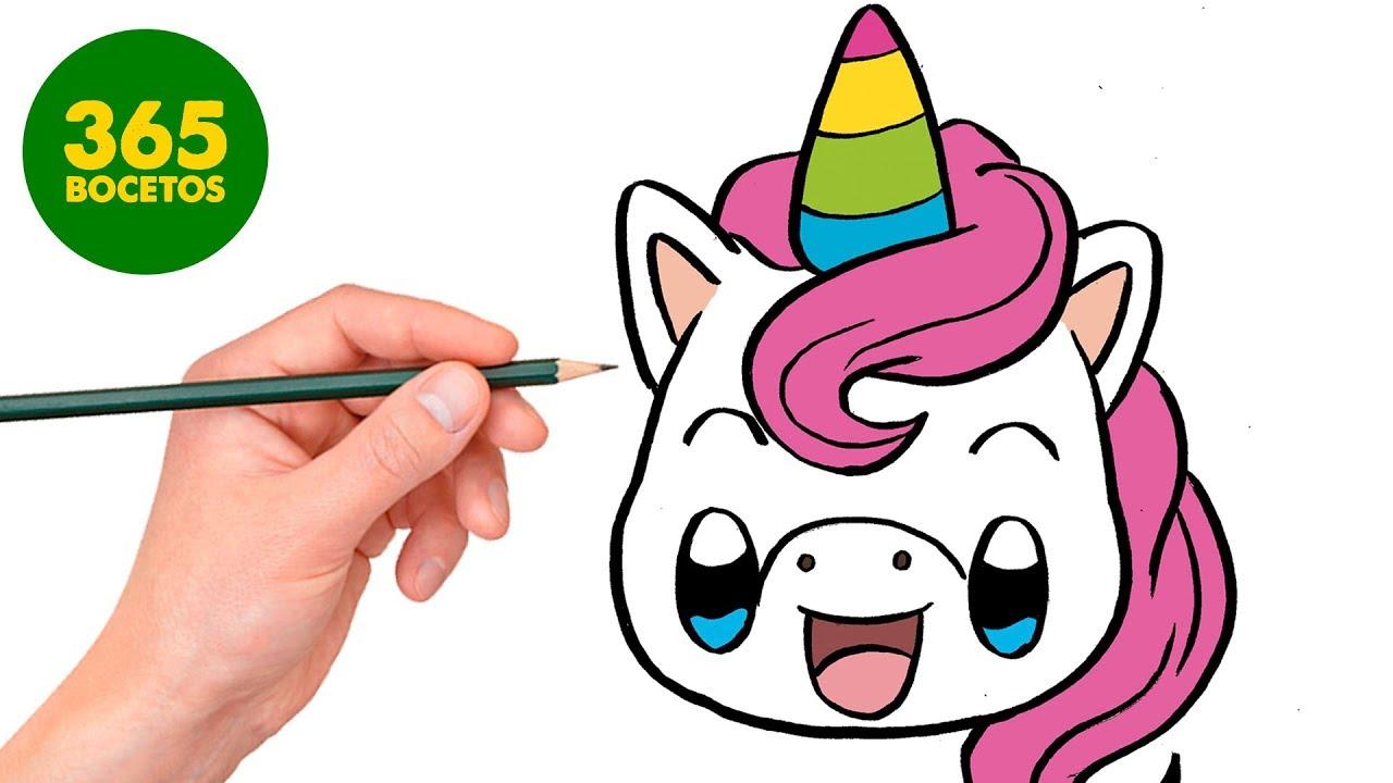 Como Dibujar Un Unicornio Kawaii Lol Unicornio Kawaii Super