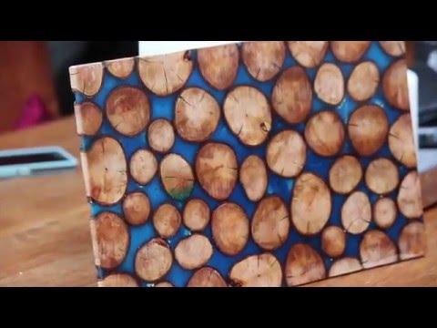 Wooden disk epoxy test