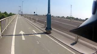 Riding an Electric Moped Across the Severn Road Bridge