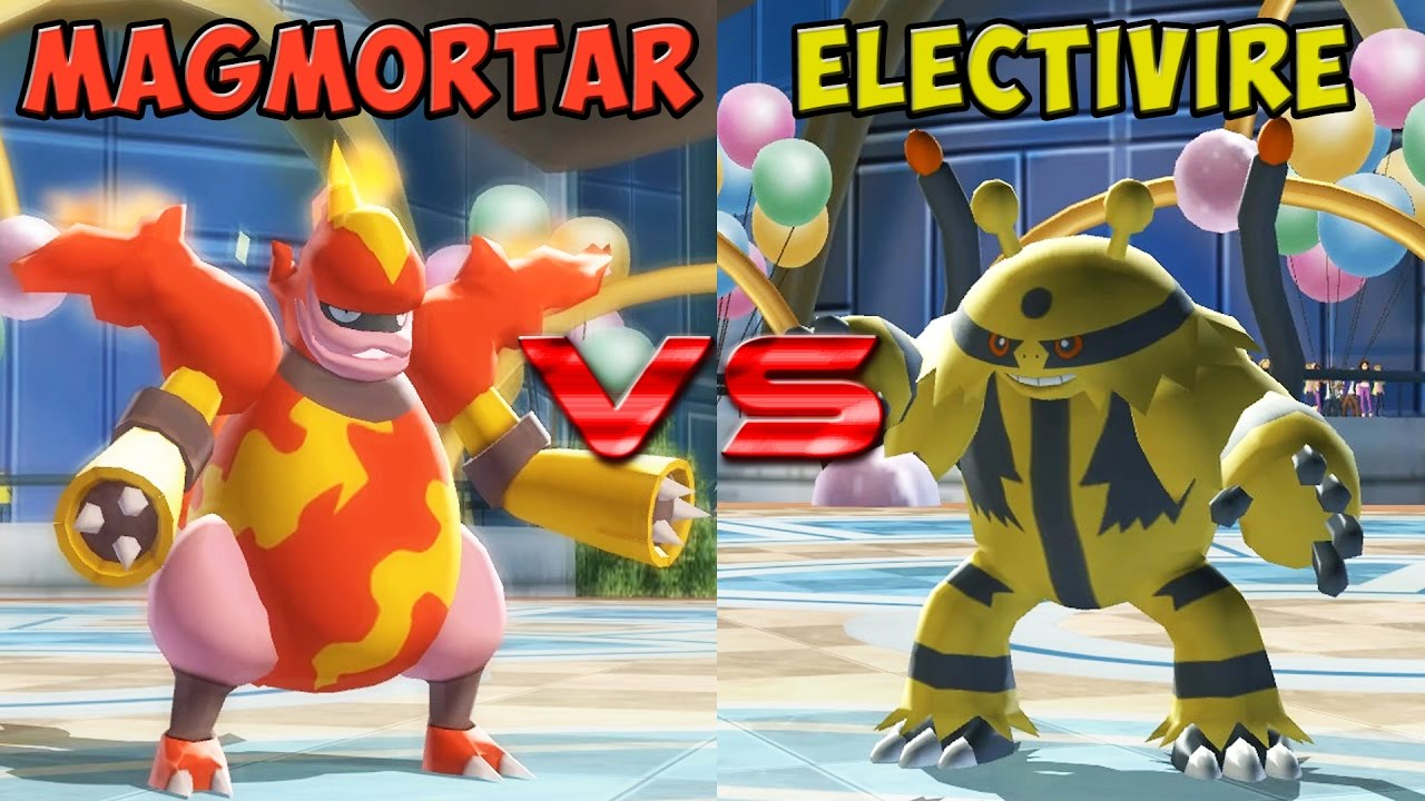 Pokemon battle revolution - Magmortar vs Electivire - YouTube