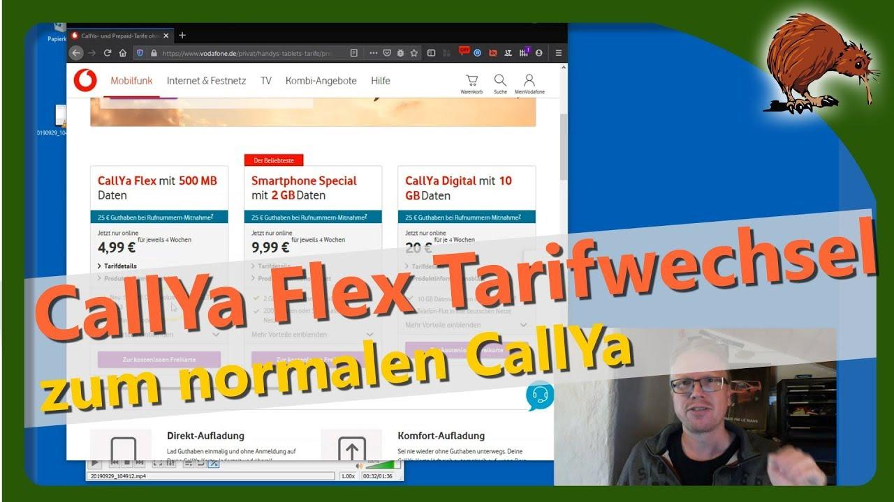 Callya Tarifwechsel