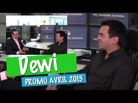 """DEWI : De Tahiti à Dubaï """"Le fait d'observer Thami en Live Trading est un grand plus pour le stage"""""""