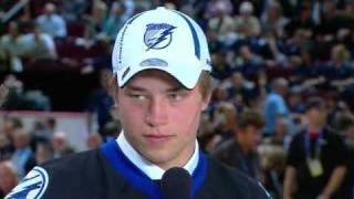 NHL Draft 2009- #2 Victor Hedman- Tampa Bay Lightning