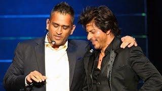 SRK and Dhoni dance and full masti