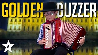 Kid Gets GOLDEN BUZZER Playing The Accordion! | Got Talent Global