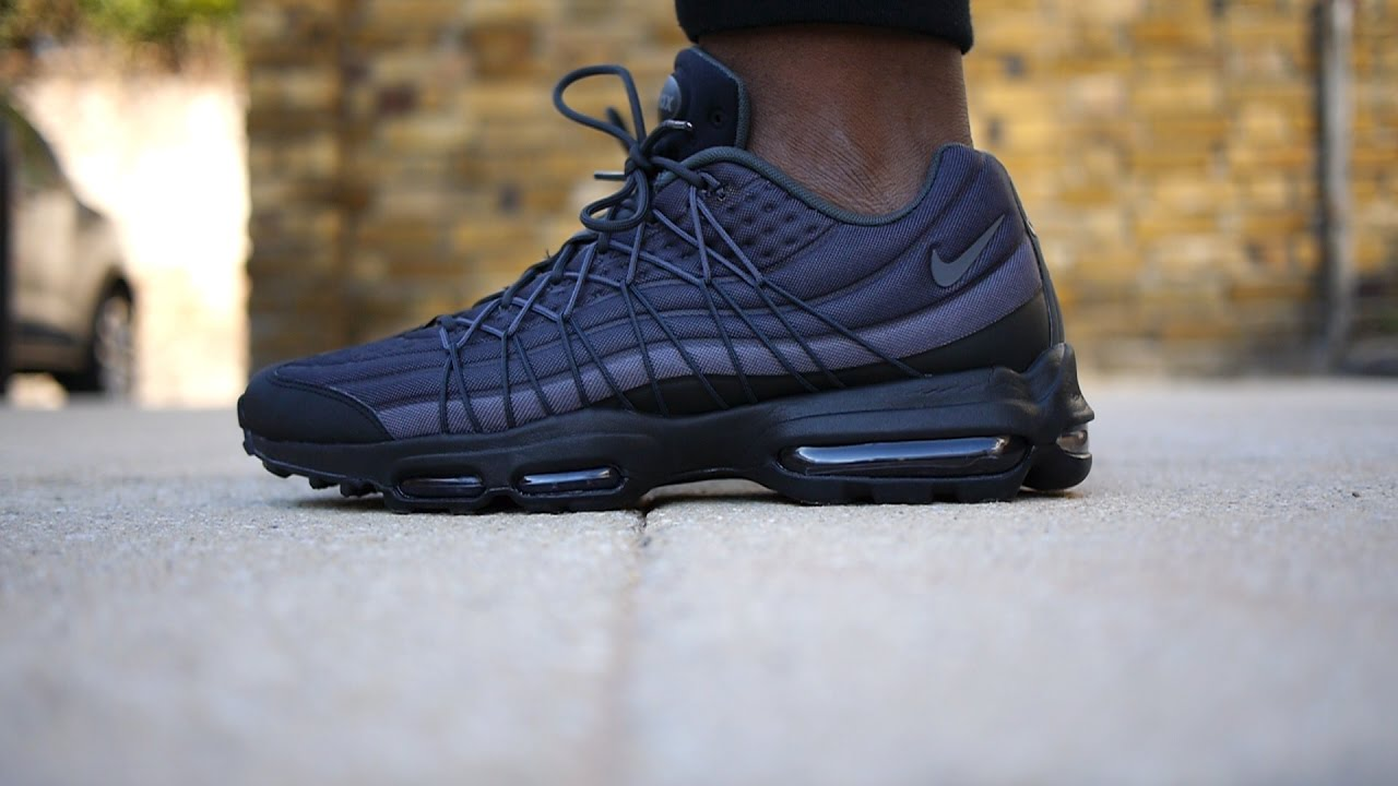nike air max 95 ultra jacquard black and blue