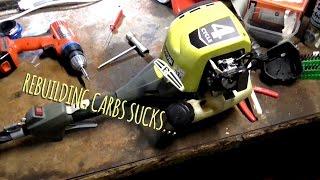 Rebuilt Ryobi carburettor...