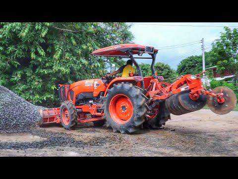 รถไถ เกรด  กองหิน รถสิบล้อดั้ม เทหิน ดูเพลิน truck thailand
