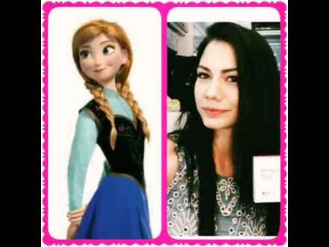 Disney prensesleri ve ünlüler