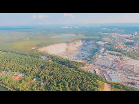 г. Екатеринбург, микрорайон ЖБИ и озеро Шарташ с высоты 300м. Полет на DJI Phantom 3 SE