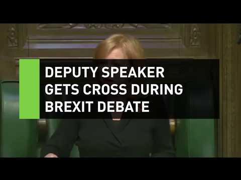 Deputy Speaker gets cross during Brexit debate