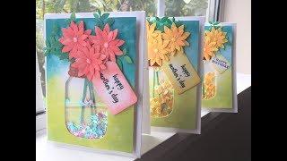 DIY | Mother's day card |  Birthday Card | Shaker Card |  Handmade