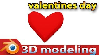valentines day special 3D heart modeling in blender