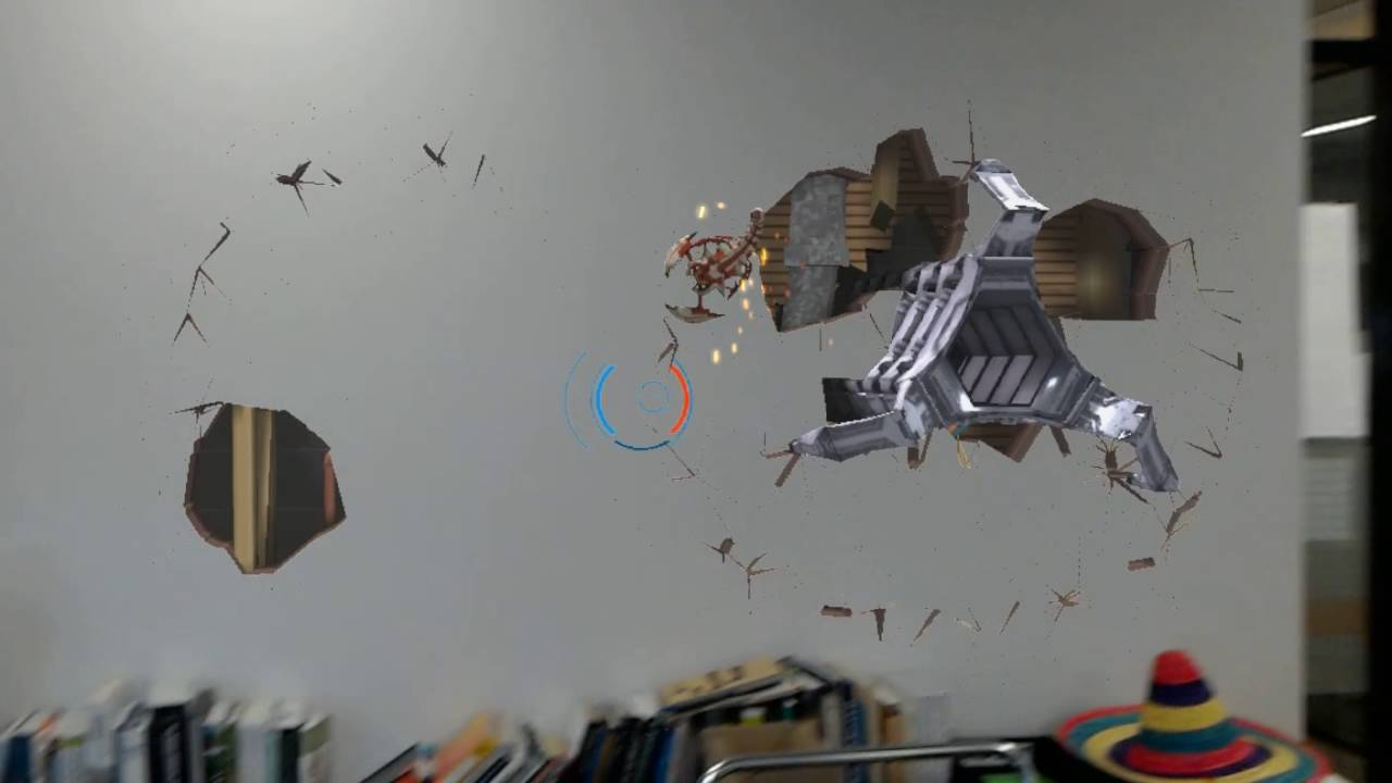 HoloLens - The bugs are coming through the walls - YouTube