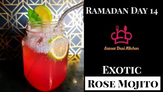 New Recipe | Best Exotic Rose Mojito | Ramadan Edition | Quick and Easy Steps | LDK Special