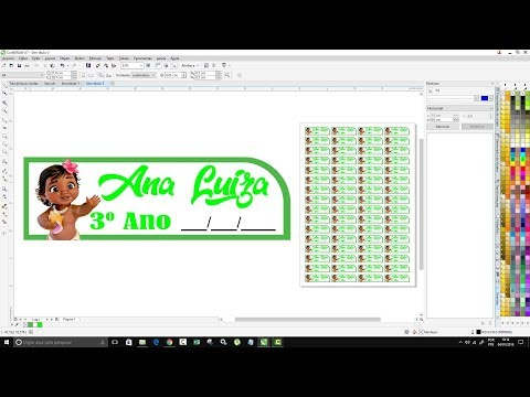Como Criar Etiquetas Escolar  Personalizadas Corel Draw Tutorial